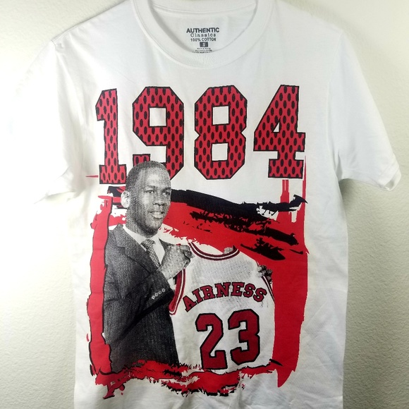 a895af304ffcc9 Michael Jordan T-Shirt Rookie NBA Small